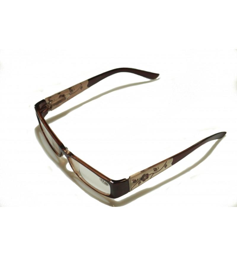 Olvasó szemüveg virágos műanyag