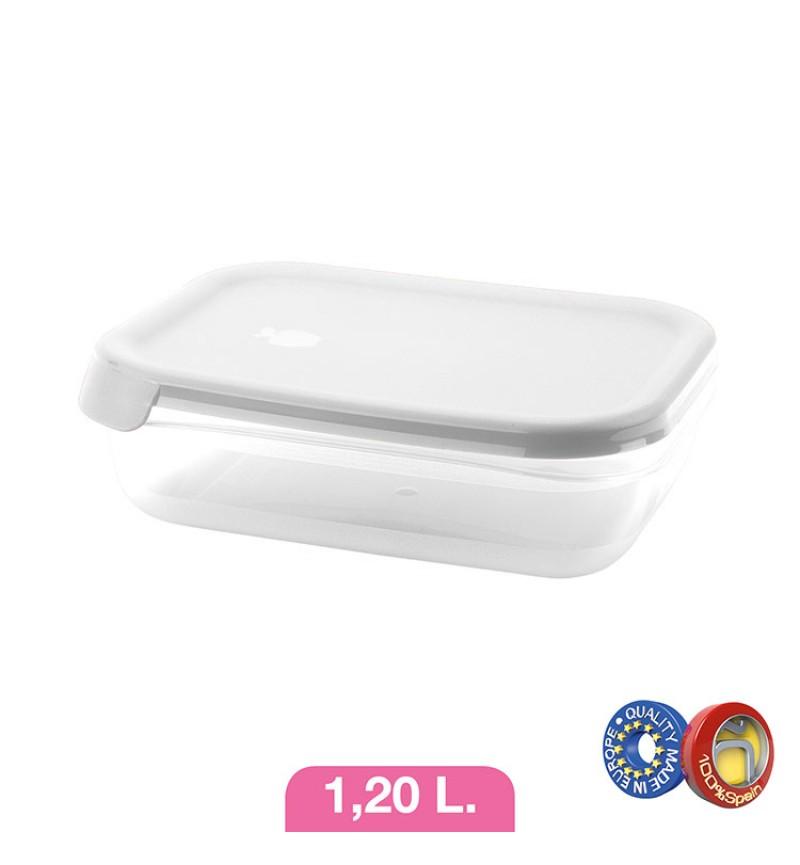 Ételtároló 1.2l fehér-ezüst