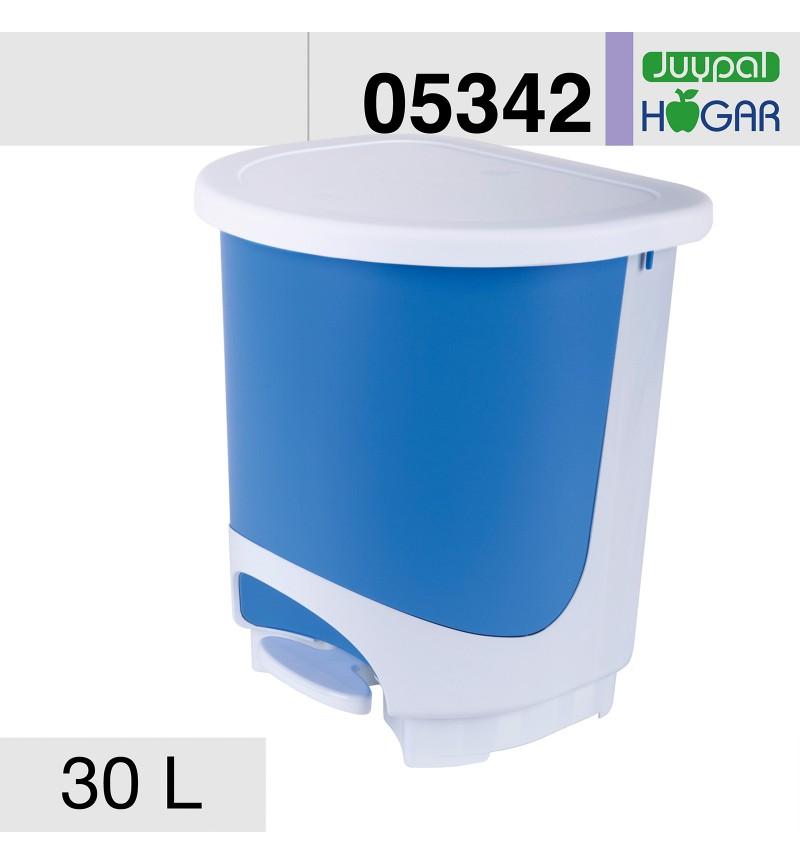 Pedálos szemetes 30l kék-fehér